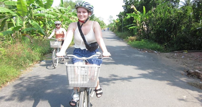 biking in mekong delta vietnam