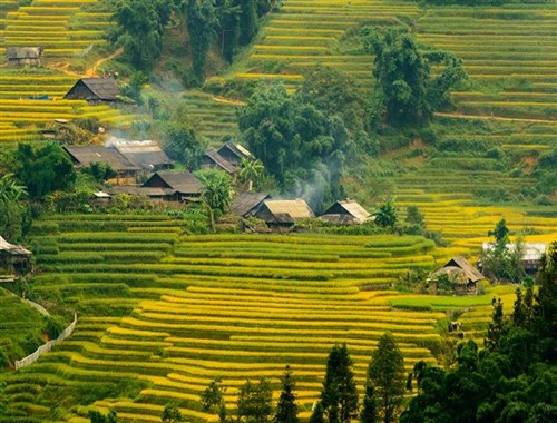 Indochina Tourist Attractions in Autumn