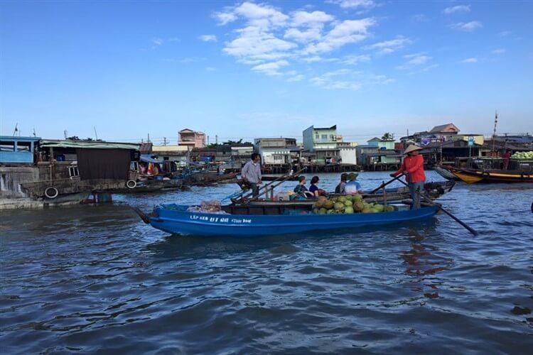 Exploring the biggest floating market in the Mekong Delta