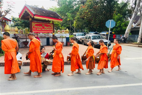 The Alms Giving Ceremony in Luang Prabang