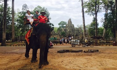 Elephant Ride Around Bayond Temple
