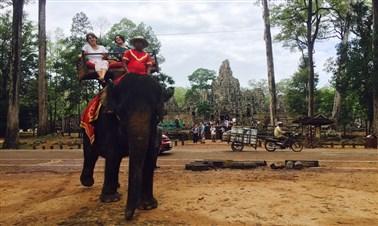 Elephant Ride Around Bayond Temple