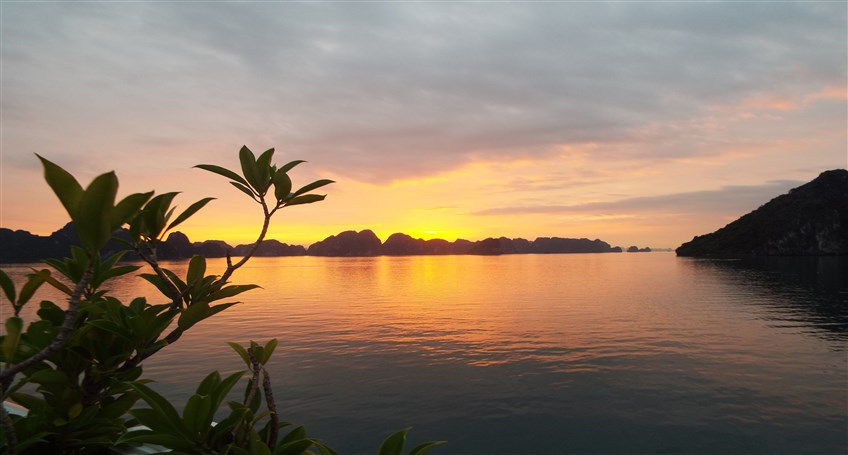 halong bay sunset vivutravel