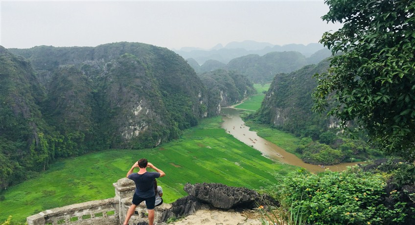 ninh binh on a bicycle tour