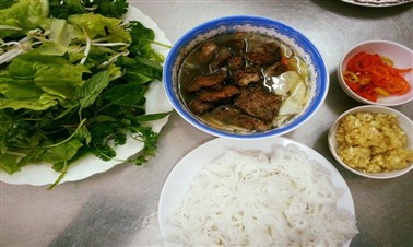 Bún Chả (vermicelli with grilled pork)