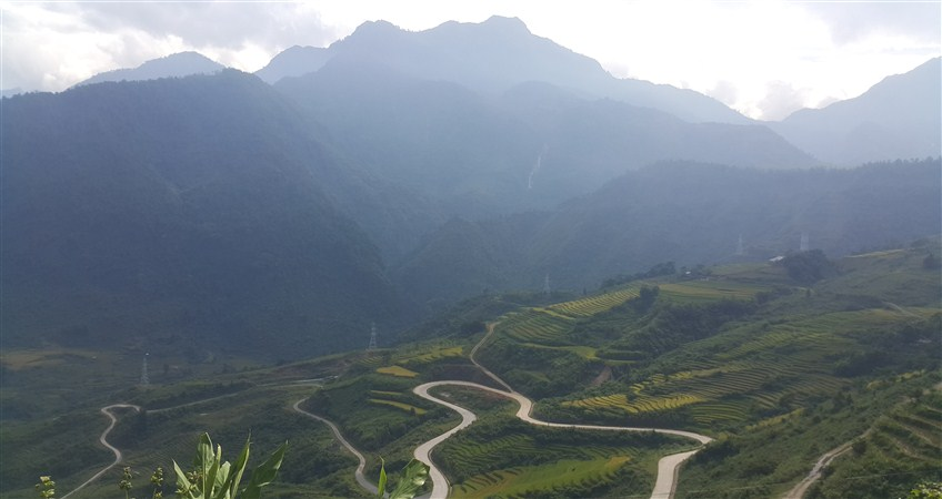 view from topas ecolodge sapa
