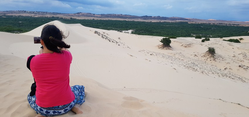 bau trang the white sand dunes in mui ne