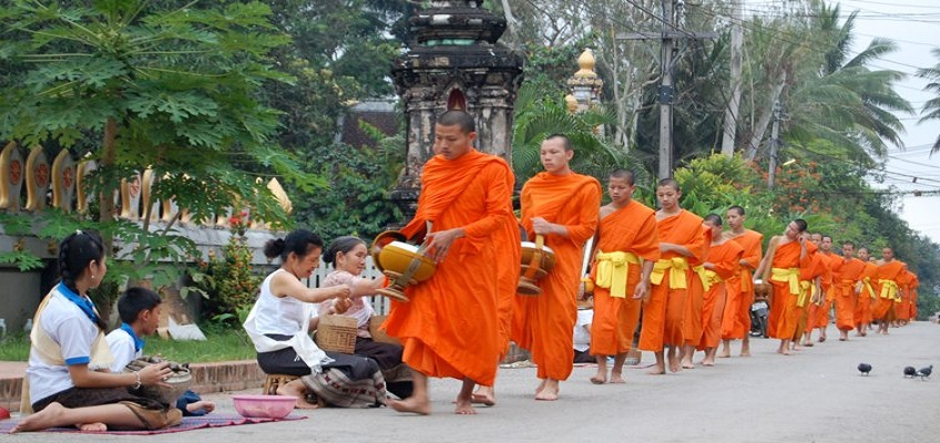 Luang Prabang monks Laos