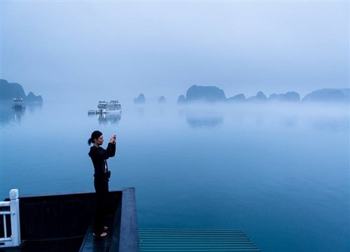 Halong Bay, one of the Seven Natural Wonders of the World