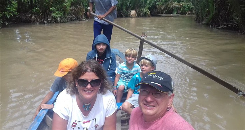 family tour in mekong delta