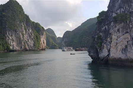 Tourist ships in Halong bay