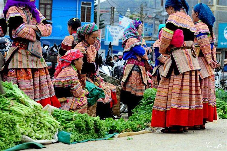 Meo Vac ethnic market in Ha Giang, Vietnam