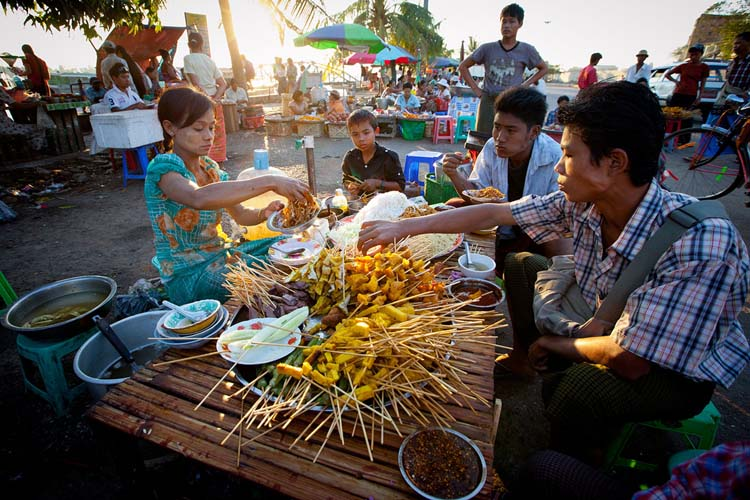 Eat at one of Mandalay's many street food joints