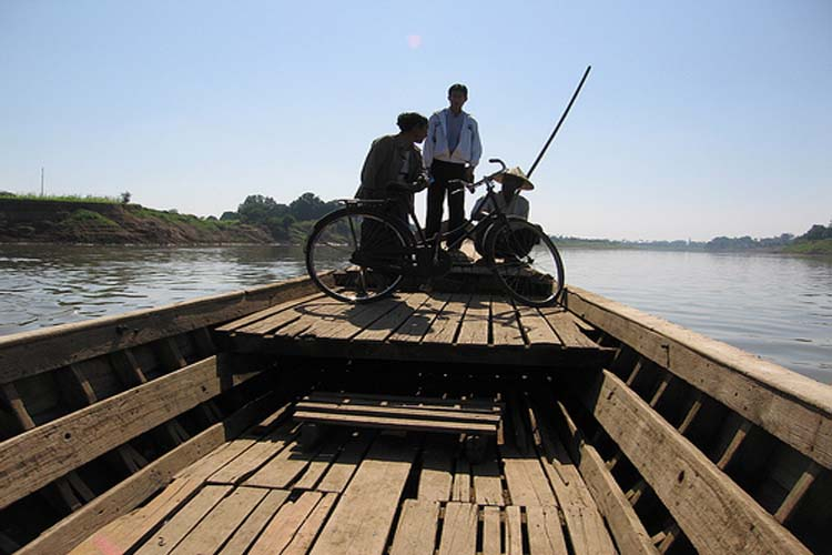 Take the ferry over to Inwa