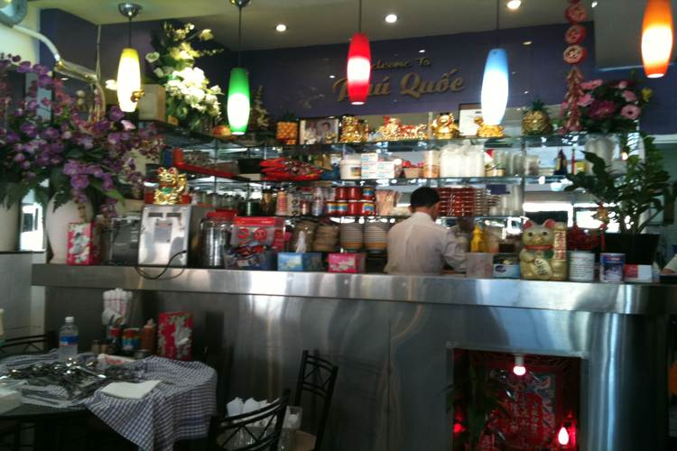 An Thai Café in Phu Quoc island in Vietnam tour