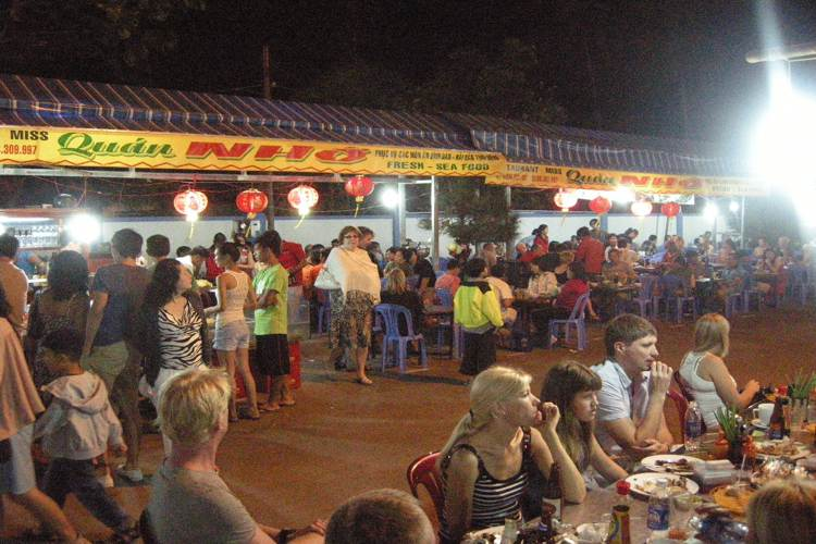 Dinh Cau Night Market in Phu Quoc island in Vietnam tour
