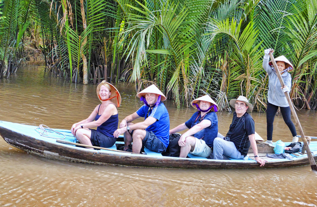 Cruising along Mangroves in Mekong Delta!