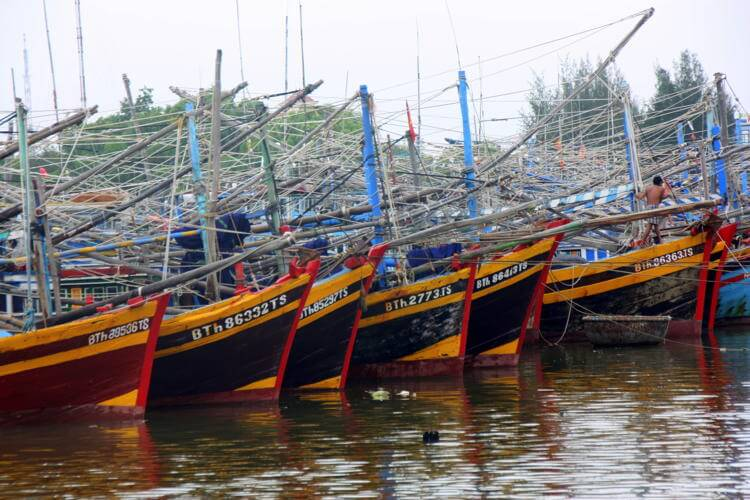 Phan Thiet Harbour in Vietnam tour