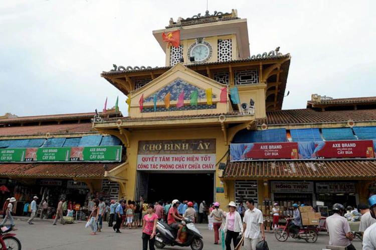 Cho Lon market in Sai Gon