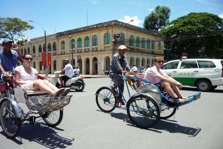 Hiring a cyclo in Saigon