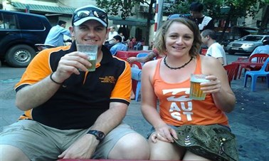 Draught beer in Hanoi