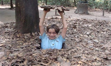 Crawling through the tunnels of Cu Chi