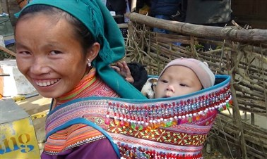 Visiting Sunday market of Bac Ha
